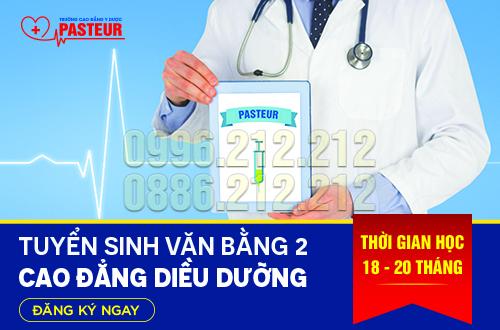 Học Văn bằng 2 Cao đẳng Điều dưỡng tại Trường Cao đẳng Y Dược Pasteur