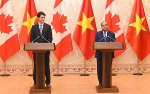 Thủ tướng Canada Justin Trudeau phát biểu bên lề APEC